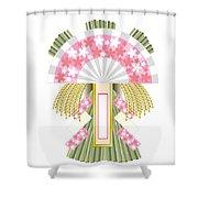 Japanese Newyear Decoration Shower Curtain
