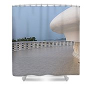 Japanese Peace Pagoda - Sri Lanka Shower Curtain