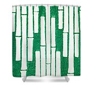 Japanese Textile From Shima-shima Shower Curtain