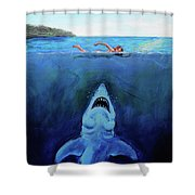 Jaws  Revisited Shower Curtain
