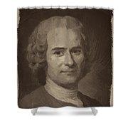 Jean Jacques Rousseau Shower Curtain
