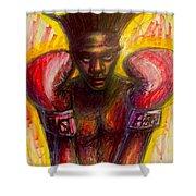Jean Michel Basquiat Shower Curtain