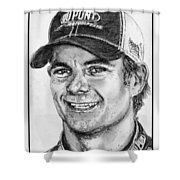 Jeff Gordon In 2010 Shower Curtain by J McCombie