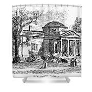 Jefferson: Monticello Shower Curtain