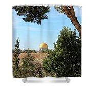 Jerusalem Trees Shower Curtain