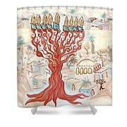 Jerusalem -watercolor On Parchment Shower Curtain