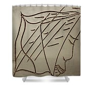 Jesus - Tile Shower Curtain