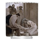 Jesus Washing The Feet Of His Disciples Shower Curtain