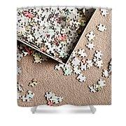 Jigsaw Puzzle Shower Curtain