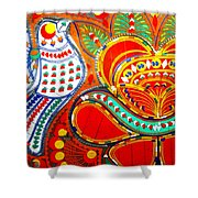 Jinga Bird Shower Curtain