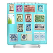 Jnf Stamps  Shower Curtain