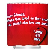 1 John Bible Verse Shower Curtain