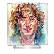 John Lennon Portrait Shower Curtain