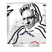 Johnny Cash Man In White Literary Homage Old Tucson Arizona 1971-2008 Shower Curtain