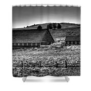 Johnson Road Barns Shower Curtain