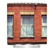 Jonesborough Tennessee Three Windows Shower Curtain