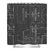 Jonval Turbines - Fairmount Waterworks - Philadelphia, Pa - Circa 1812 Shower Curtain