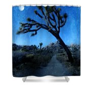 Joshua Trees At Night Shower Curtain