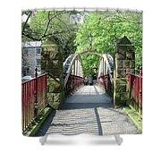 Jubilee Bridge - Matlock Bath Shower Curtain