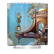 Jugglernautica Shower Curtain by Patrick Anthony Pierson