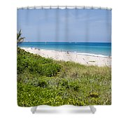 Juno Beach In Florida Shower Curtain