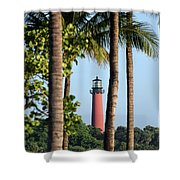 Jupiter Lighthouse Shower Curtain
