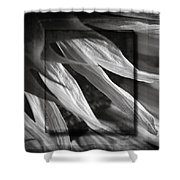 Just Shy In Black And White Shower Curtain
