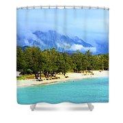 Kailua Beach Hawaii Shower Curtain