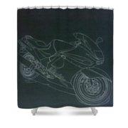 Kawasaki Ninja Shower Curtain