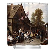 Kermis On St. George's Day Shower Curtain