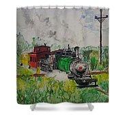 Kettle Moraine Train Shower Curtain