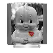 Rosie O'neil's Kewpie Of Love Shower Curtain