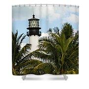 Key Biscayne Lighthouse, Florida Shower Curtain