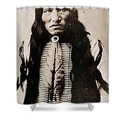 Kicking Bear Indian Chief Shower Curtain