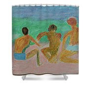 Kids At The Beach Shower Curtain