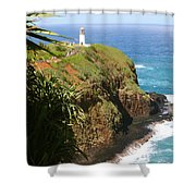 Kilauea Lighthouse Shower Curtain