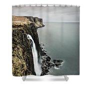 Kilt Rock Waterfall - Isle Of Skye Shower Curtain