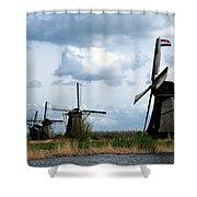Kinderdijk Windmills Shower Curtain