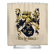 King Of France Coat Of Arms - Livro Do Armeiro-mor  Shower Curtain by Serge Averbukh