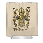 Kingdom Of Jerusalem Coat Of Arms - Livro Do Armeiro-mor Shower Curtain by Serge Averbukh