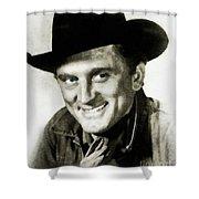 Kirk Douglas, Vintage Actor Shower Curtain