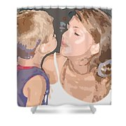 Kissing Mommy2 Shower Curtain