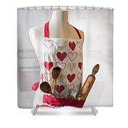 Kitchen Apron Shower Curtain
