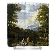 Klassische Landschaft Mit Arkadischer Shower Curtain