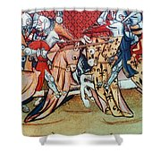 Knights In Tournament Shower Curtain