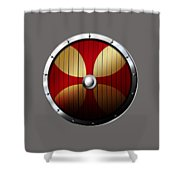Knights Templar Shield Shower Curtain