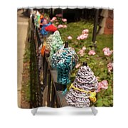 Knit Fence Protectors Shower Curtain