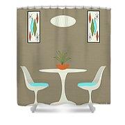 Knoll Table Shower Curtain