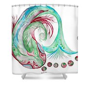 Koi Fish-watercolor Shower Curtain