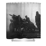 Korean War: Artillery Shower Curtain